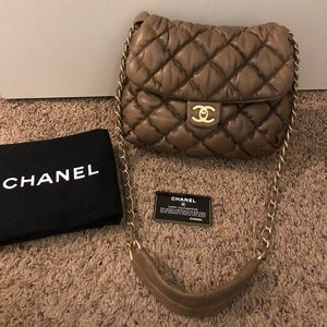 Chanel bubble quilt crossbody bag
